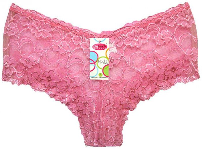 Boxer Short Lace Panties Pink  Ladies One Size New with Tags