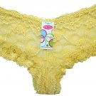 Boxer Short Lace Panties Yellow Ladies One Size New with Tags