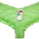 Boxer Short Lace Panties Green Ladies One Size New with Tags