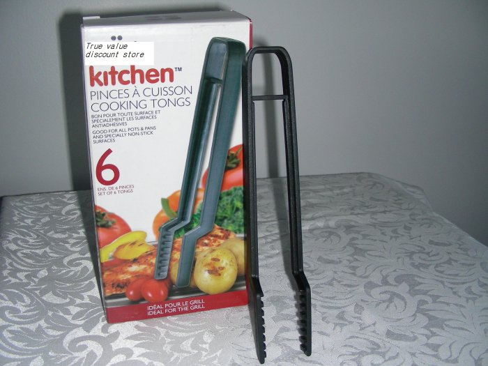 NEW COLLECTION KITCHEN COOKING TONGS NON-STICK HIGH QUALITY DURABLE SET OF 6 IN BOX!!WOW
