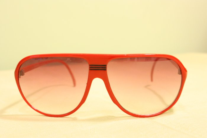 Spalding red sunglasses
