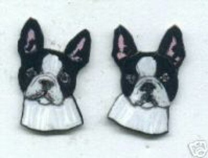 BOSTON TERRIER DOG PUPPY EARRINGS 2 SIZES ADORABLE