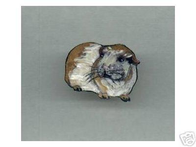 GUINEA PIG  HANDPAINTED ADORABLE PIN