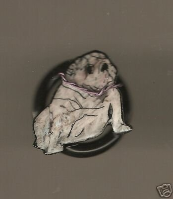 BULLDOG PUPPY DOG ADJUSTABLE HANDPAINTED RING CUTE