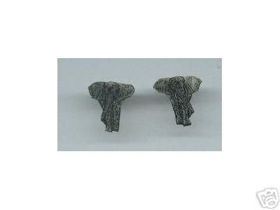 ELEPHANT HAND PAINTED EARRINGS CUTE 3 SIZES