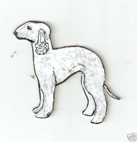 BEDLINGTON TERRIER DOG PIN BROOCH PENDANT EARRINGS SET