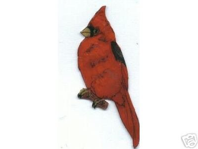 CARDINAL BIRD  PIN BROOCH PENDANT EARRINGS SET