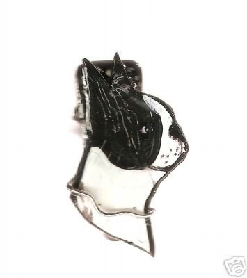 BOSTON TERRIER DOG HANDPAINTED WIRE WRAPPED RING