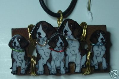 BEAGLE FAMILY NECKLACE BROOD BITCH STUD DOG SHOW TROPHY