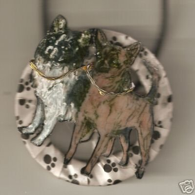 CHIHUAHUA NECKLACE DOG HANDPAINTED ADORABLE  &  BOLD