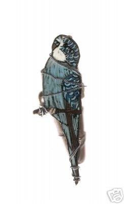 PARAKEET BUDGIE BIRD ADJUSTABLE HANDPAINTED RING