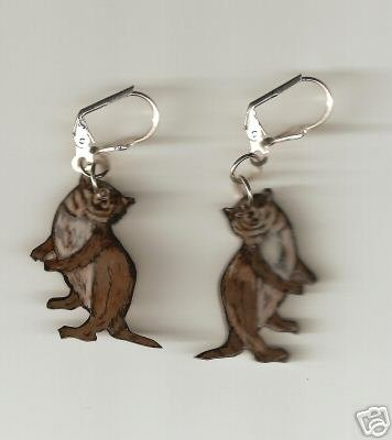 OTTER ADORABLE HANDPAINTED JEWELRY EARRINGS