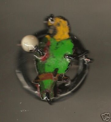 AMAZON  BIRD HANDPAINTED WIRE WRAPPED RING ARTISIAN ART