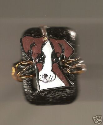 PARSONS JACK RUSSELL TERRIER DOG RING HAND PAINTED