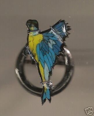 MACAW BIRD RING  HANDPAINTED FUN JEWELRY ADORABLE
