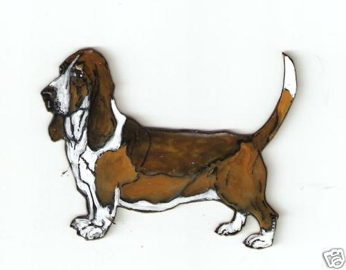 BASSET HOUND DOG PIN BROOCH PENDANT EARRINGS SET
