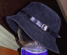 BLACK CORDOUROY HAT