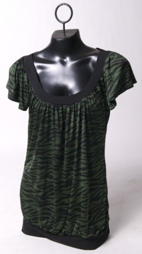 Green Lizard Striped Top