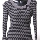 Grey & Black Striped Sweater