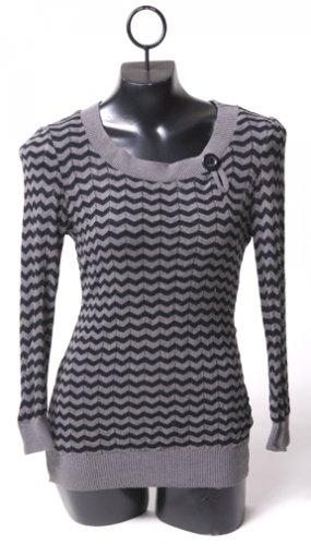 Grey & Black Striped Sweater