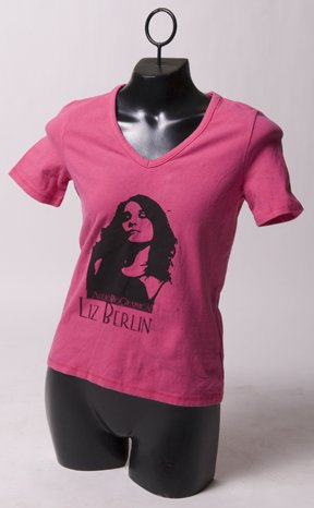 """Hot Pink """"AudioBioGraphical"""" Tee"""