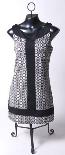 Mod Black & White Mini-Dress