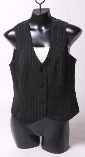 Black Pinstriped Vest