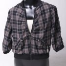 Black & Grey Plaid Jacket