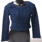 Fuzzy Sparkly Navy Sweater