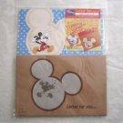 New! Disney Mickey Mouse Letter Set 8 Sheet Pads 4 Envelopes & Stickers Blue Dot