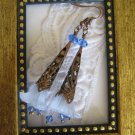 Copper Stem & Blue Lily Earrings, Free Ship!