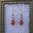 Handmade Faceted Ruby & Silver Drop Earrings, Free Shipping!