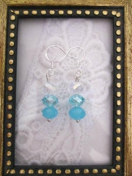 Handmade Rain Drop Crystal Earrings, Free U.S. Shipping!