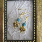 Handmade Tibetan Treasure Box & Turquoise Bead Earrings Free U.S. Shipping!