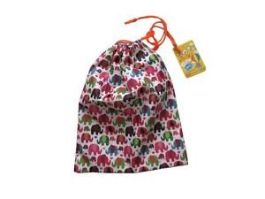"""NWT Happy Elephant Water Proof Multi Purpose Draw String Bag, 13.5x10"""" Polyester"""