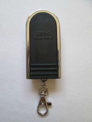 New! ZIPPO Slide Top Portable Ashtray Key Chain, Black, Free Shipping!