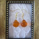 Handmade India Glass Drop Briolette Wire Wrapped Earrings, Free U.S. Shipping!