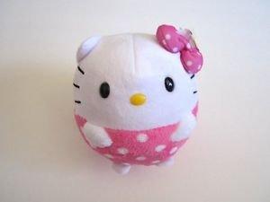"""New! Sanrio TY HELLO KITTY 4"""" Beanie Ballz Pink Ball Plush Toy, Free U.S. Ship!"""