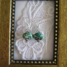 Handmade Green Simulated Turquoise UFO Earrings, Free U.S. Shipping!