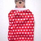 NWT Red w/ White Heart Print Dog Shirt, M, for Shih Tzu, Maltese, Pomeranian etc