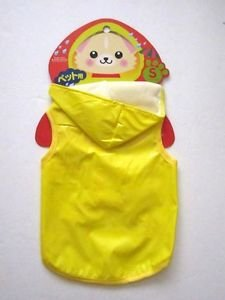 NWT Hooded Yellow Rain Coat for VerySmall Dogs,Yorkies, Chihuachuas, Papillons