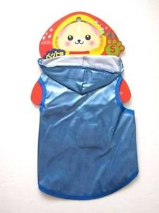 NWT Hooded Blue Rain Coat for VerySmall Dogs,Yorkies, Chihuachuas, Papillons