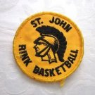 Vintage Sew-On Applique Fabric Patch St. John Rink Basketball Free U.S. Shipping