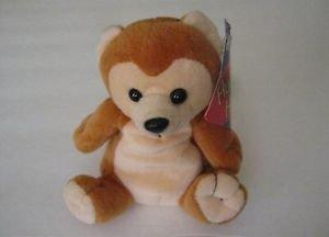 NWT Vintage Huggable Honeys Brown Bear Plush Bean Bag Animal, 1996 Exc Condition