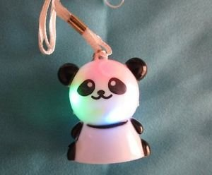 New! Animal Flashing Light Pendant, Bear, Pig, Panda, Frog Free U.S. Shipping!