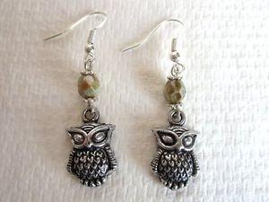 Handmade Silver Tone Charm Earrings, Seahorse,  Birds, Bird, Horse, Bears, Fish