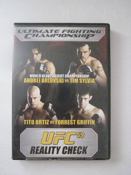 UFC 59 REALITY CHECK DVD Previousely Viewed, FREE U.S. Shipping!