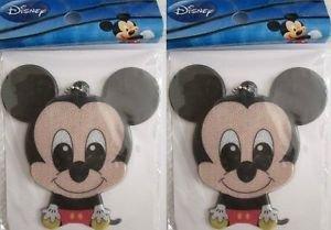 2pc Disney Reflectors, Choose Mickey, Minnie, Pooh or Stitch For Bike, Back Pack