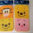 NIP Disney Winnie The Pooh, Piglet & Tigger Mini Baby Towel Washcloth 2pc Set