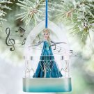 "NIP Disney Frozen ELSA ""Let It Go"" Musical Christmas Ornament Disney Store 2015"
